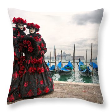 Throw Pillow featuring the photograph Venice Carnival Mask by Luciano Mortula
