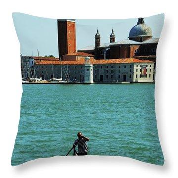 Venice Gandola Throw Pillow