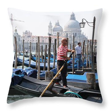Venice Throw Pillow by Mary-Lee Sanders