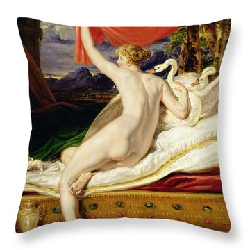 Venus Rising From Her Couch Throw Pillow by James Ward