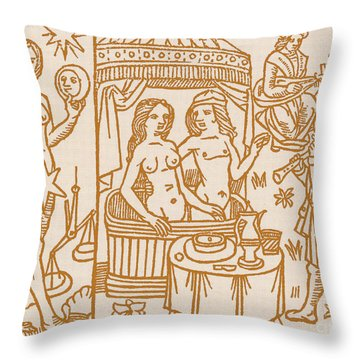 Venus, Roman Goddess Of Love Throw Pillow by Science Source