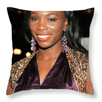 Venus Williams Throw Pillows