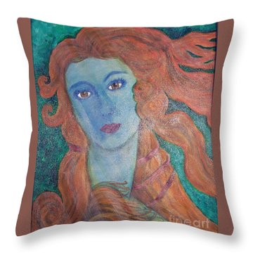 Venus's Haze Throw Pillow by Lucia Grilletto