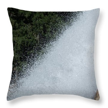 Vernal Falls On The Mist Trail At Yosemite Np Throw Pillow