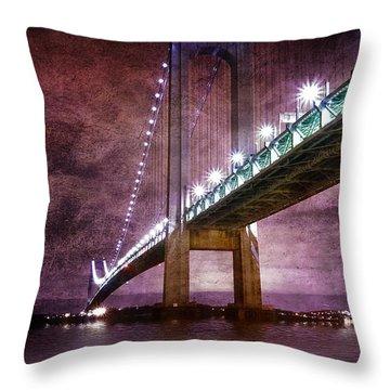 Verrazano-narrows Bridge03 Throw Pillow by Svetlana Sewell