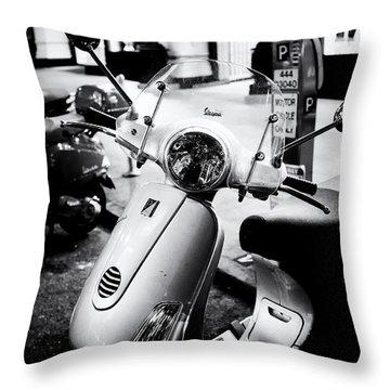 Vespa Throw Pillow by Tanya Harrison