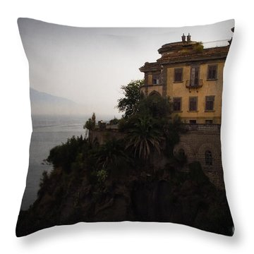 Vesuvius From Sorrento Throw Pillow