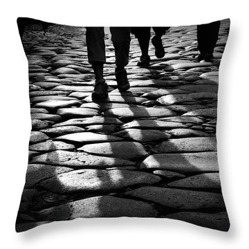 Via Sacra Throw Pillow by Fabrizio Troiani