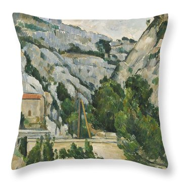 Viaduct At L'estaque Throw Pillow by Paul Cezanne