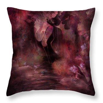 Victorian Dreams Throw Pillow by Rachel Christine Nowicki