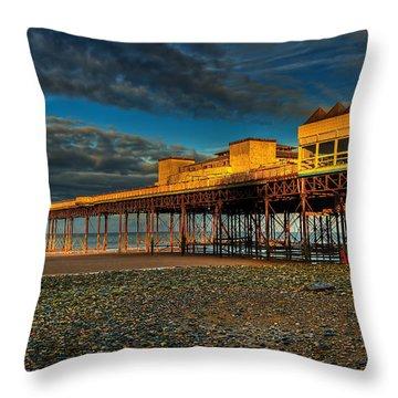 Victorian Pier Throw Pillow by Adrian Evans