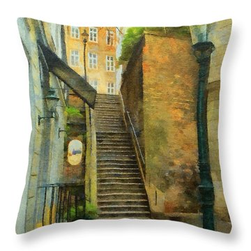 Viennese Side Street Throw Pillow by Jeff Kolker