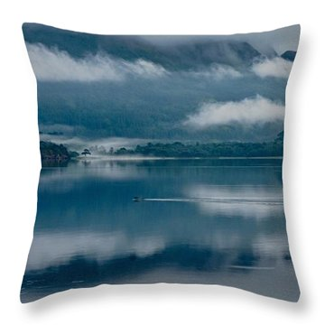 View At Sunset From The Lake Hotel In Killarney Ireland Throw Pillow