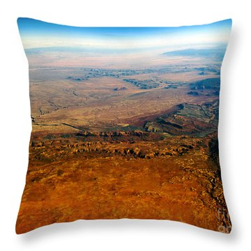 View From Above Vi Throw Pillow by Patricia Griffin Brett