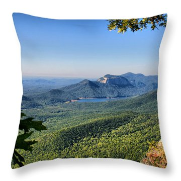 View From Caesar's Head Throw Pillow by Lynne Jenkins