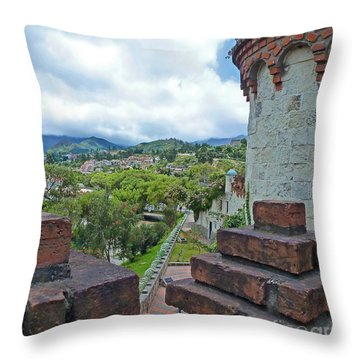 View From The City Walls - Loja - Ecuador Throw Pillow