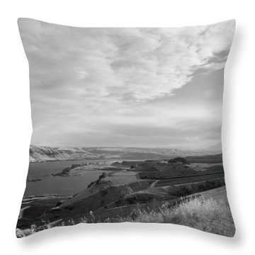 Throw Pillow featuring the photograph View From The Hill Columbia River by Kathleen Grace