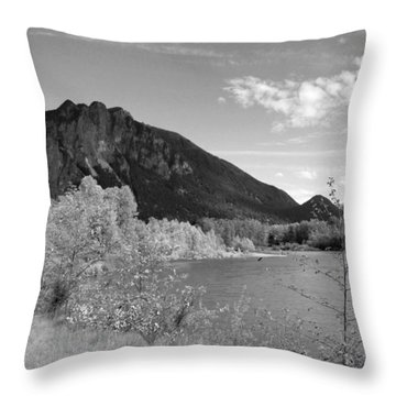 Throw Pillow featuring the photograph View From The River by Kathleen Grace