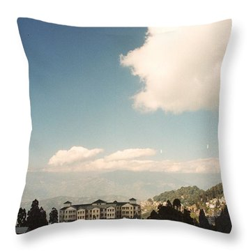 Throw Pillow featuring the photograph View From The Window by Fotosas Photography