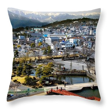 View Fromthe Top Throw Pillow