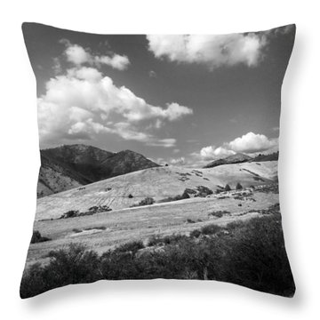 Throw Pillow featuring the photograph View Into The Mountains by Kathleen Grace