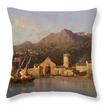 View Of Taormina Sicily Throw Pillow by Alessandro la Volpe