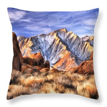 View Of The Sierras Throw Pillow by Dominic Piperata