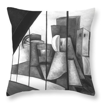 View Of The Weisman Ix Throw Pillow