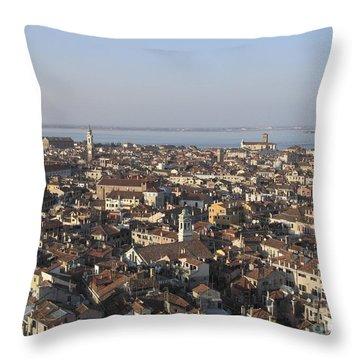 View Of Venice Throw Pillow by Bernard Jaubert
