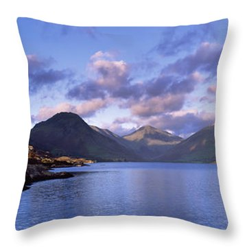 View Of Wastewater, Located In The Lake Throw Pillow by Axiom Photographic
