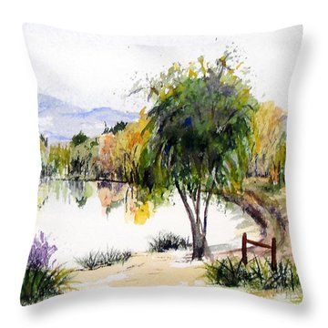 View Outside Reno Throw Pillow by Vicki  Housel