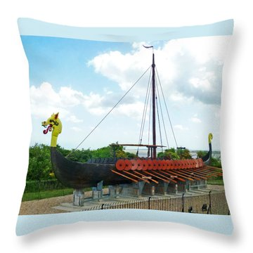 Throw Pillow featuring the photograph Viking Bay In Broadstairs In England by Steve Taylor