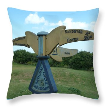 Throw Pillow featuring the photograph Viking Coastal Trail From Sandwich To Reculver by Steve Taylor