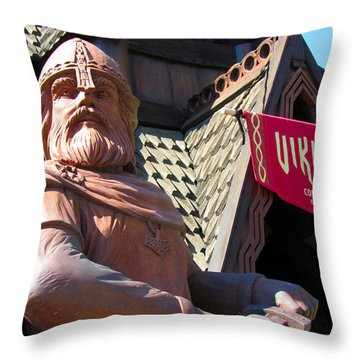Vikings Conquerors Of The Sea Throw Pillow
