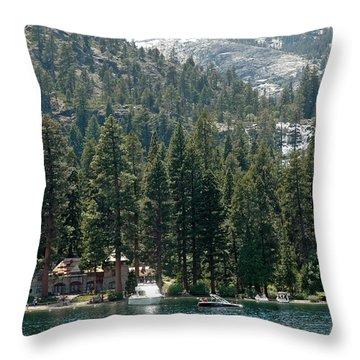 Vikingsholm Eagle Falls Throw Pillow by LeeAnn McLaneGoetz McLaneGoetzStudioLLCcom