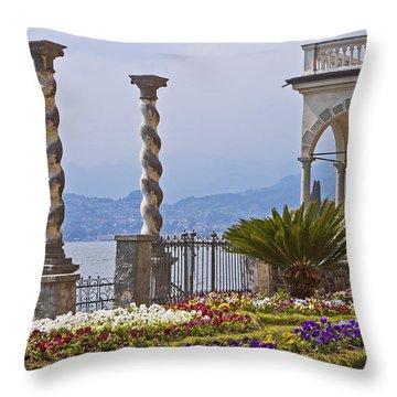 Villa Monastero - Varenna - Lago Di Como Throw Pillow by Joana Kruse