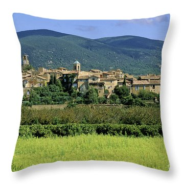 Village Of Lourmarin. Luberon. Vaucluse Throw Pillow by Bernard Jaubert