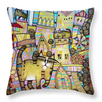 Villages Of My Childhood Throw Pillow