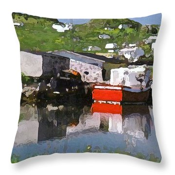 Throw Pillow featuring the photograph Villiage by Lydia Holly