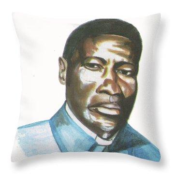Vincent Mulago Throw Pillow by Emmanuel Baliyanga
