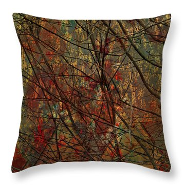 Vines And Twines  Throw Pillow by Jerry Cordeiro