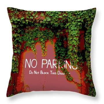 Throw Pillow featuring the photograph Vines Blocking The Door by Paul Mashburn