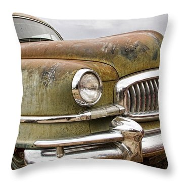 Vintage 1951 Nash Ambassador Front End Throw Pillow by James BO  Insogna