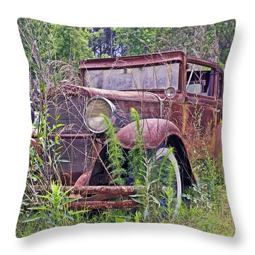 Throw Pillow featuring the photograph Vintage Automobile by Susan Leggett