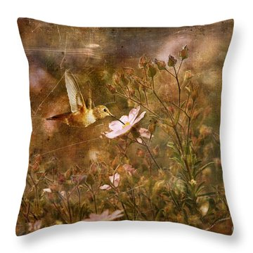Vintage Beauty In Nature  Throw Pillow by Susan Gary