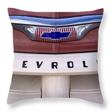 Vintage Chevy Truck Throw Pillow