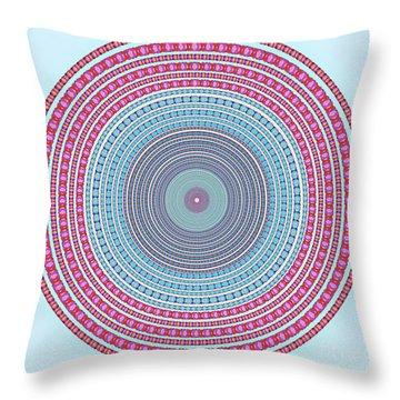 Vintage Color Circle Throw Pillow