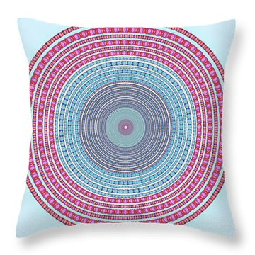Vintage Color Circle Throw Pillow by Atiketta Sangasaeng