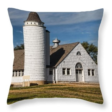 Vintage Dairy Farm Throw Pillow