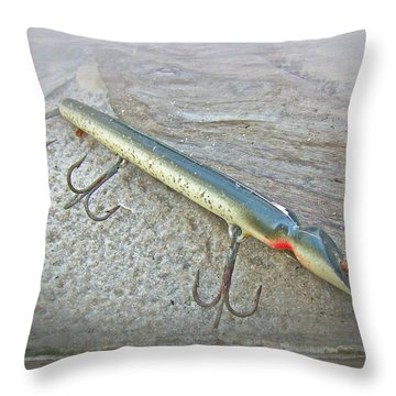Vintage Fishing Lure - Floyd Roman Nike Lil Sandee Throw Pillow by Mother Nature